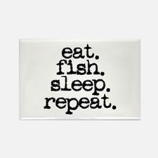 eat. fish. sleep. repeat. Rectangle Magnet