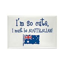 So Cute Australian Rectangle Magnet