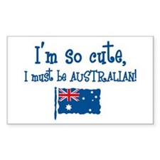 So Cute Australian Rectangle Decal