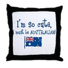 So Cute Australian Throw Pillow
