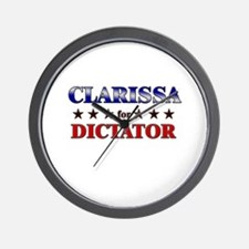 CLARISSA for dictator Wall Clock