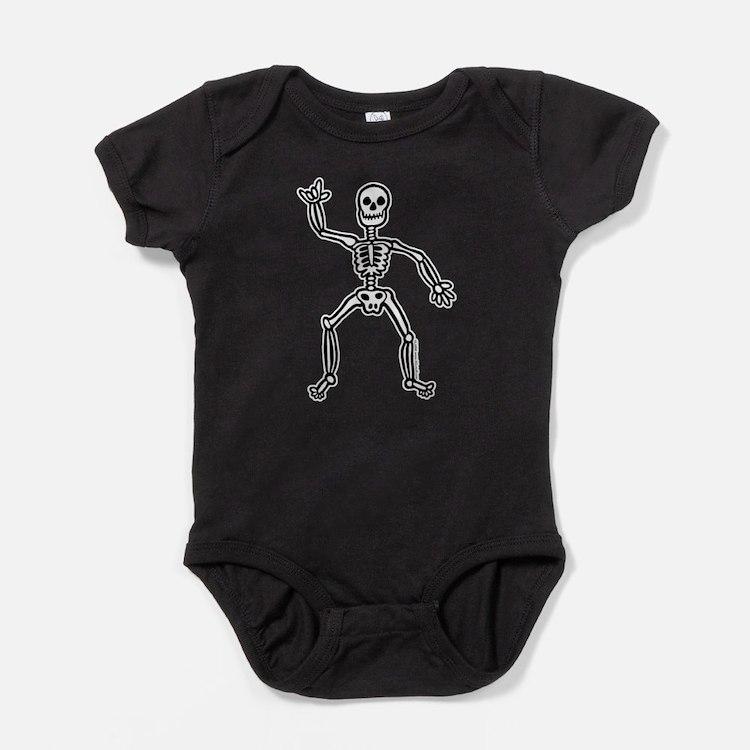 Cute Skeleton Baby Bodysuit