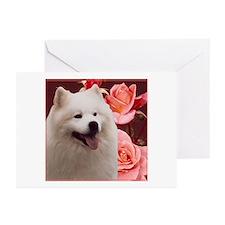 Rosy Samoyed Sammy Greeting Cards (Pk of 10)