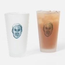 Blue Man Identikit Drawing Drinking Glass