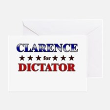 CLARENCE for dictator Greeting Card