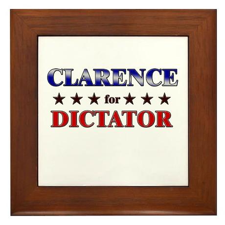 CLARENCE for dictator Framed Tile