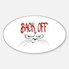 Cute Back Sticker (Oval)