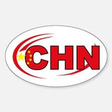 Country Code China Oval Decal