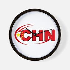 Country Code China Wall Clock