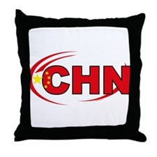 Country Code China Throw Pillow