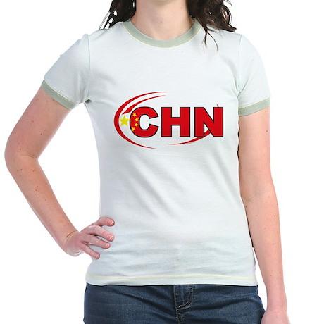 Country Code China Jr. Ringer T-Shirt