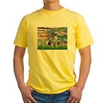 Lilies / Keeshond Yellow T-Shirt