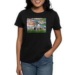 Lilies / Keeshond Women's Dark T-Shirt
