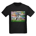 Lilies / Keeshond Kids Dark T-Shirt