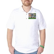 Lilies / Keeshond T-Shirt
