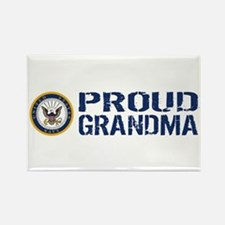 U.S. Navy: Proud Grandma (Blue & Rectangle Magnet