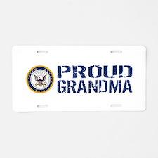 U.S. Navy: Proud Grandma (B Aluminum License Plate