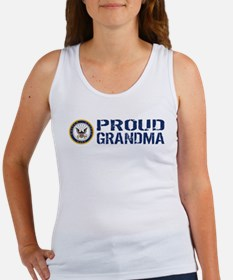 U.S. Navy: Proud Grandma (Blue) Women's Tank Top