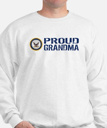 U.S. Navy: Proud Grandma (Blue) Sweatshirt