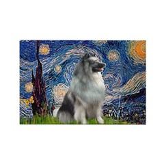 Starry / Keeshond Rectangle Magnet