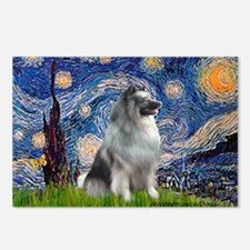 Starry / Keeshond Postcards (Package of 8)
