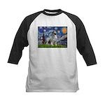 Starry / Keeshond Kids Baseball Jersey