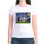 Starry / Keeshond Jr. Ringer T-Shirt