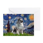 Starry / Keeshond Greeting Card