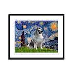 Starry / Keeshond Framed Panel Print