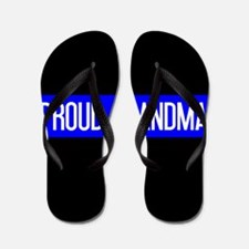 Police: Proud Grandma (The Thin Blue Li Flip Flops