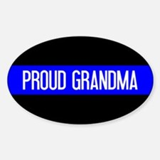 Police: Proud Grandma (The Thin Blu Sticker (Oval)