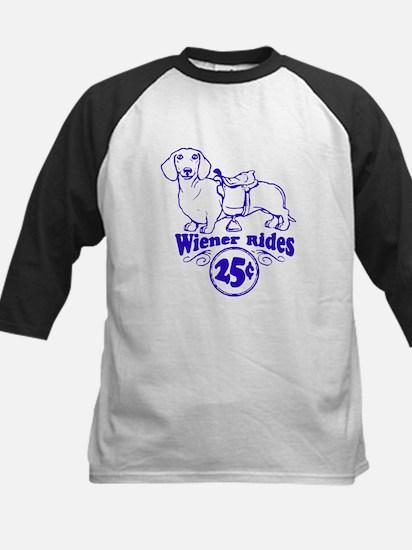 Weiner Rides 25 cents Kids Baseball Jersey