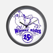Weiner Rides 25 cents Wall Clock