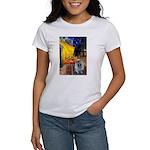 Cafe / Keeshond (F) Women's T-Shirt