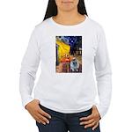 Cafe / Keeshond (F) Women's Long Sleeve T-Shirt