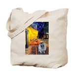 Cafe / Keeshond (F) Tote Bag