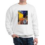 Cafe / Keeshond (F) Sweatshirt