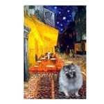 Cafe / Keeshond (F) Postcards (Package of 8)