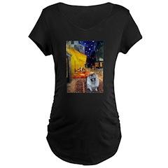 Cafe / Keeshond (F) T-Shirt