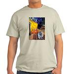 Cafe / Keeshond (F) Light T-Shirt