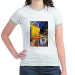 Cafe / Keeshond (F) Jr. Ringer T-Shirt