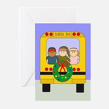School Bus Christmas Greeting Cards (Pk of 20)