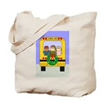 School Bus Christmas Tote Bag