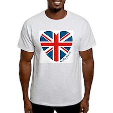Radiopanic.com Heart Ash Grey T-Shirt