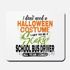 School Bus Driver Halloween Mousepad