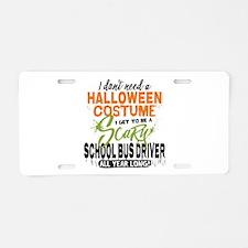 School Bus Driver Halloween Aluminum License Plate