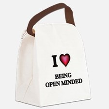 I Love Being Open-Minded Canvas Lunch Bag