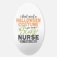 Nurse Halloween Sticker (Oval)