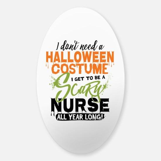Nurse Halloween Sticker (Oval)