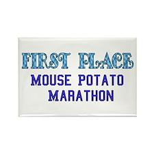 Mouse Potato Marathon Rectangle Magnet